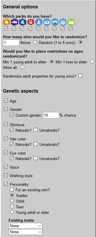 Mod The Sims: Random Sim Generator by katrisims