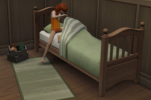 Blackys Sims 4 Zoo: Single bed wild west by mammut