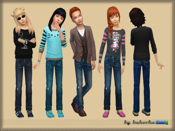 The Sims Resource: Pants Denim by bukovka