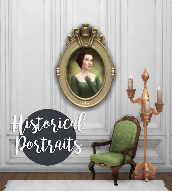 History Lovers Sims Blog: Historical portraits