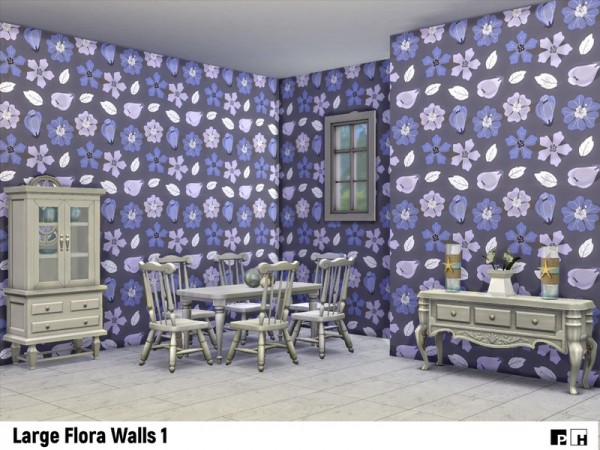 The Sims Resource: Large Flora Walls 1 by Pinkfizzzzz