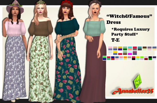 Simsworkshop: Witchy Vibes Dress