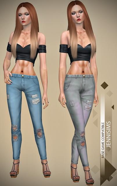 Jenni Sims: Jeans Ripped