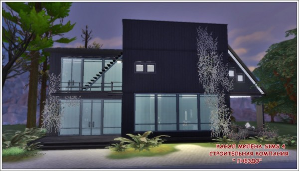 Sims 3 by Mulena: Black House