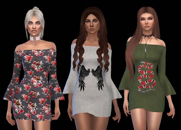 Leo 4 Sims: Rapsody dress recolored