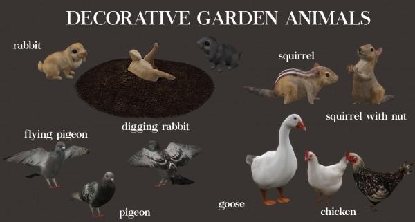 Leo 4 Sims Decor Garden Animals Sims 4 Downloads