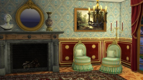 Regal Sims Antique Slipper Chair Sims 4 Downloads