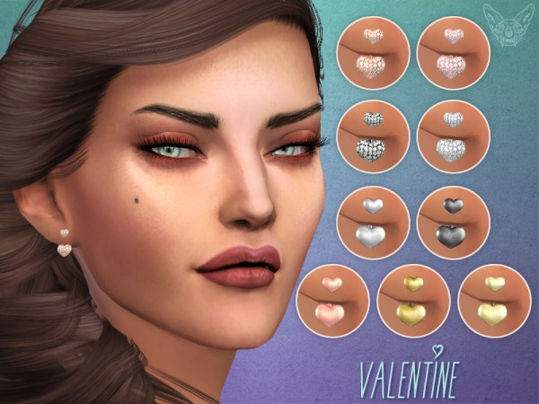 The Sims Resource: Valentine Ear Jackets by feyona