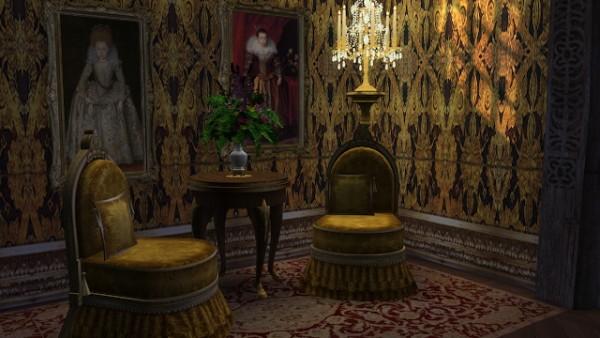 Regal Sims: Antique Slipper Chair