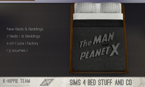 Simsworkshop: K Ich Factory Beds – 7 Bedframes and  21 Beddings by