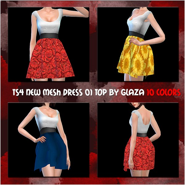All by Glaza: New mesh dress 01