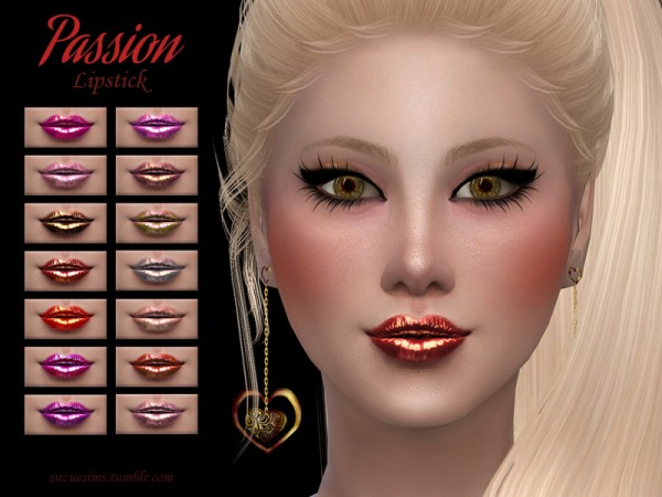 The Sims Resource: Passion Lipstick N3 by Suzue
