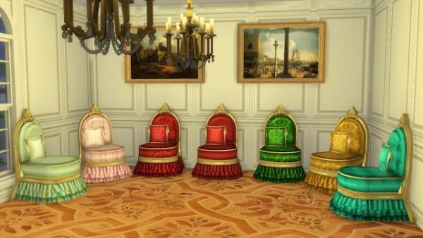 Regal Sims Antique Slipper Chair Sims 4 Downloads