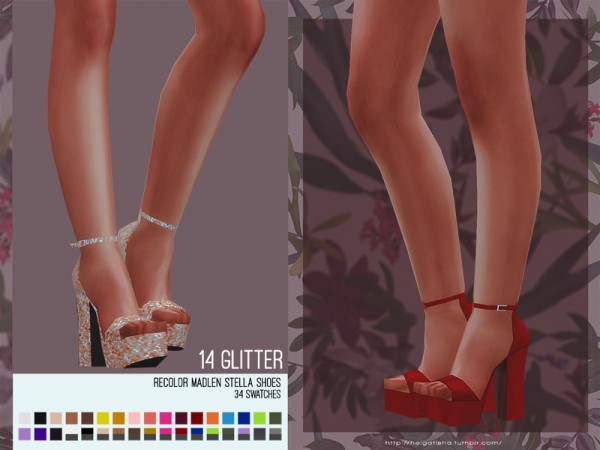 The Sims Resource: Madlen Stella Shoes recolored by HelgaTisha