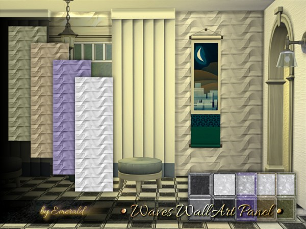 The Sims Resource: Waves WallArt Panel by emerald