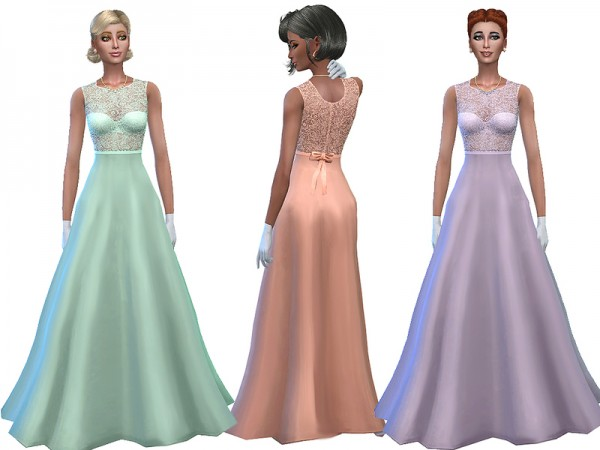 The Sims Resource: Dream comes true dress by Simalicious