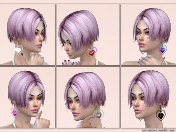 The Sims Resource: Love Earrings v2 by Suzue
