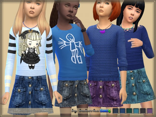 The Sims Resource: Denim Skirt by bukovka