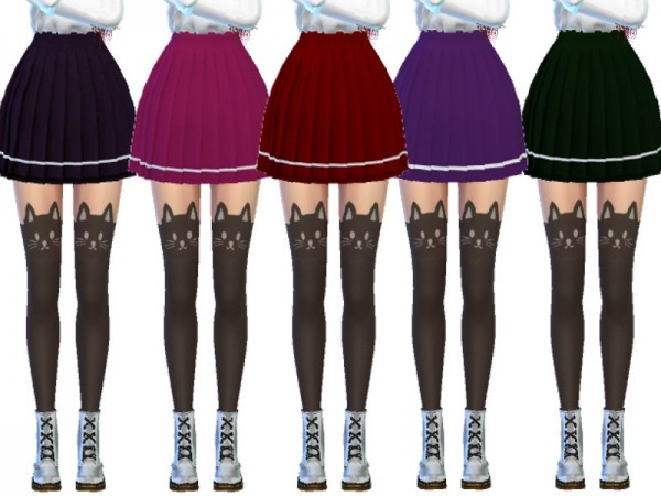 The Sims Resource: Snazzy Pleated Skirts by Wicked Kittie
