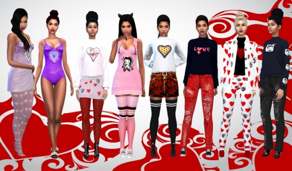 Dreaming 4 Sims: Clothes with heart