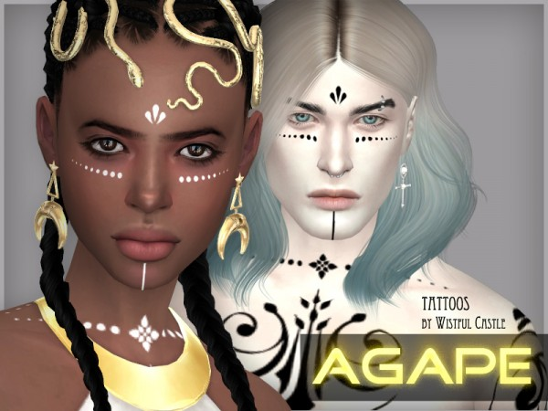 The Sims Resource: Agape   tattoos by WistfulCastle