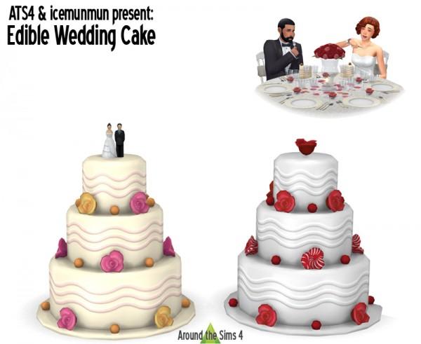 Around The Sims 4: Edible Wedding Cake