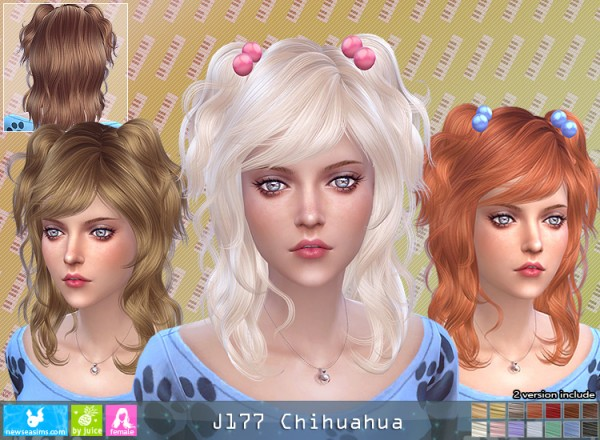 The Sims Resource: J177 Chihuahua donation hairstyle