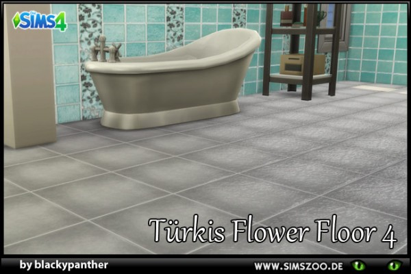 Blackys Sims 4 Zoo: Tuerkis Flower 4 floors by blackypanther