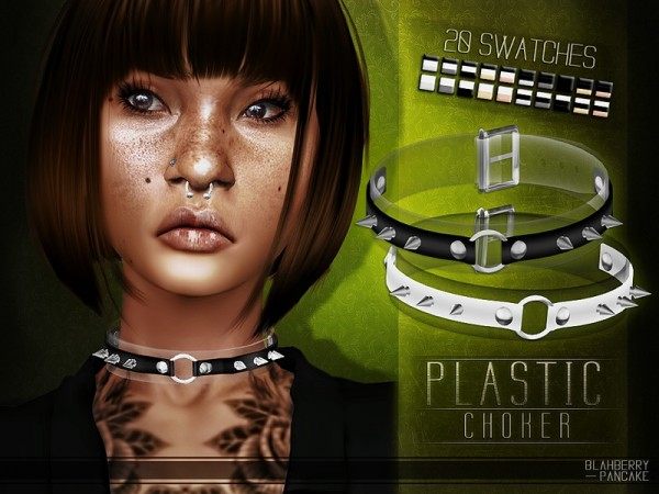 The Sims Resource: Plastic Choker by Blahberry Pancake
