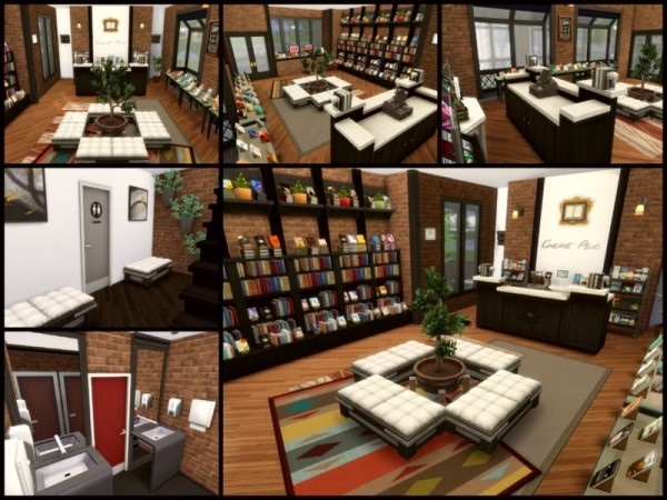 The Sims Resource: Jacks Bookstore and Apartment by sparky