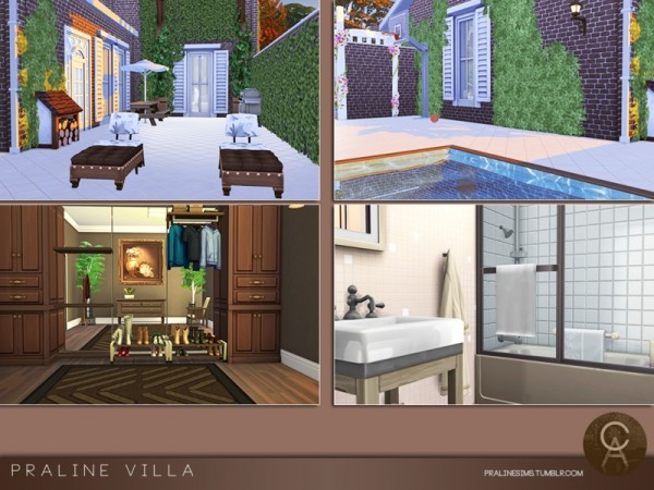 The Sims Resource: Villa by Pralinesims