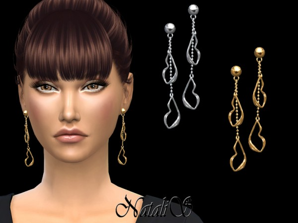 The Sims Resource: Your lips drop earrings by NataliS