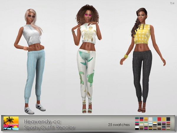 Elfdor: Sporty Outfit Recolored