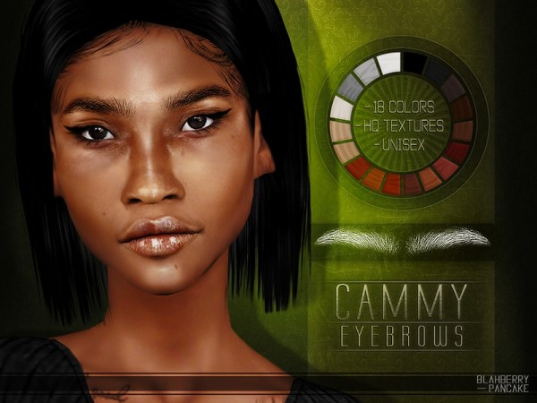 The Sims Resource: Cammy Eyebrows by Blahberry Pancake
