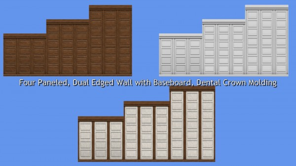 Mod The Sims: Wood Paneling Walls converted by TheJim07