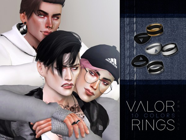 The Sims Resource: Valor Rings by Pralinesims