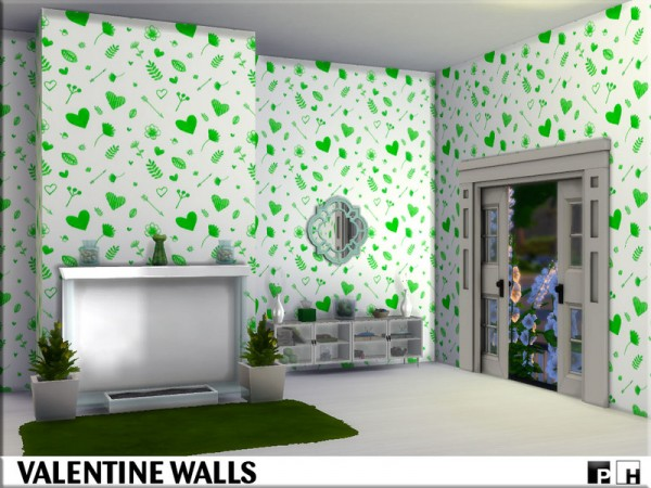 The Sims Resource: Valentine Walls by Pinkfizzzzz