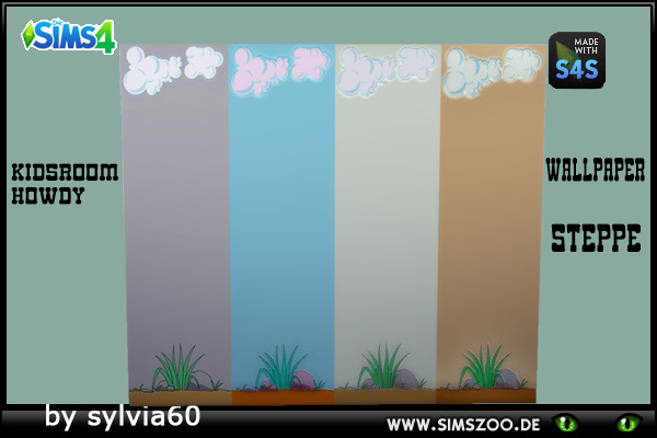 Blackys Sims 4 Zoo: Howdy Wallpaper Steppe by sylvia60