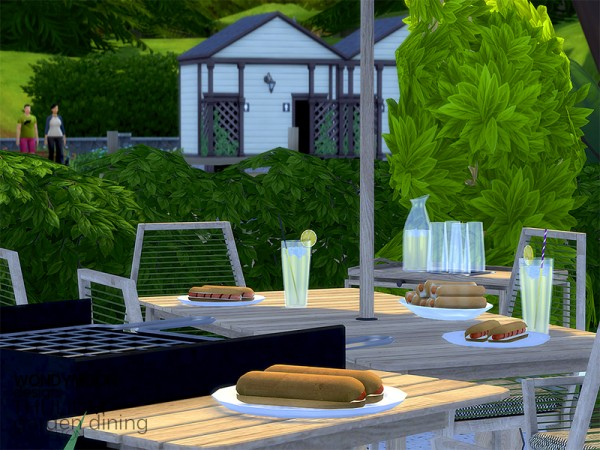 The Sims Resource: Thulium Garden Dining by wondymoon