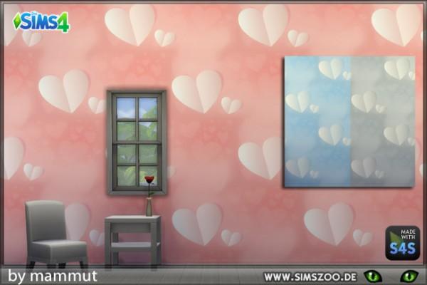 Blackys Sims 4 Zoo: Wall hearts 1 by mammut