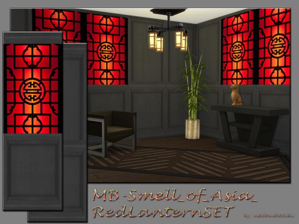 The Sims Resource: Smell of Asia Red Lantern set by matomibotaki