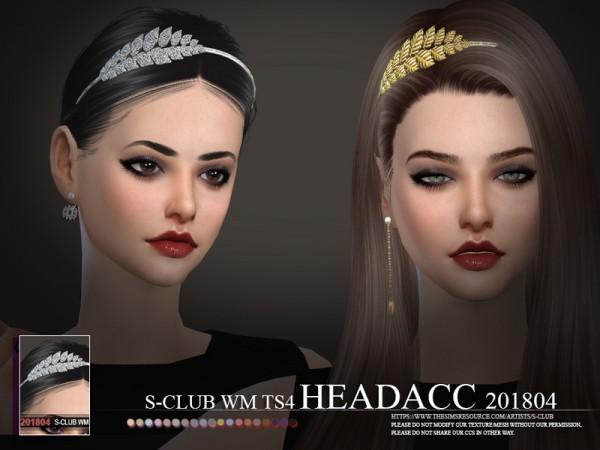 The Sims Resource: Headacc F 201804 by S club