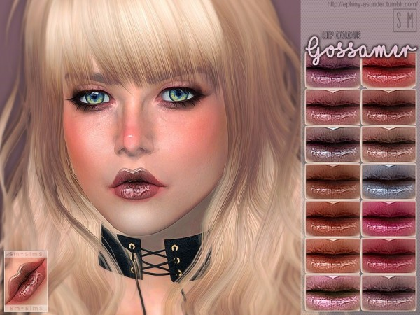 The Sims Resource: Gossamer   Lip Colour by Screaming Mustard