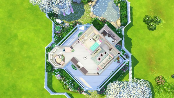 Aveline Sims Quirky Tiny Pastel House Sims 4 Downloads