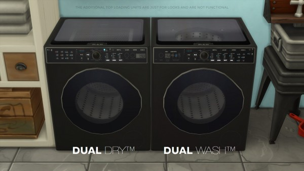 Mod The Sims: H&B DualWash   DualDry  by littledica