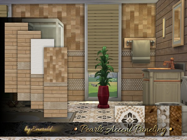 The Sims Resource: Pearls Accent Paneling by emerald