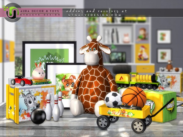 The Sims Resource: Aura Kids Decor and Toys by NynaeveDesign