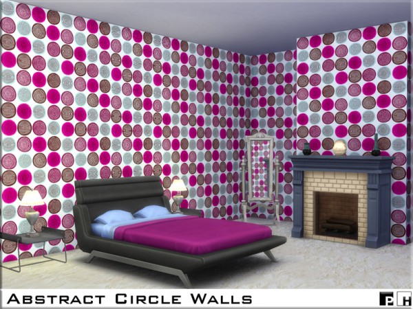 The Sims Resource: Abstract Circle Walls by Pinkfizzzzz