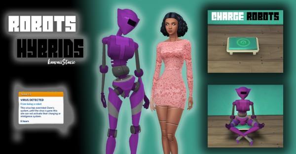 Mod The Sims: Robot and Hybrid Traits by kawaiistacie