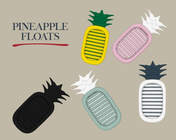 Leo 4 Sims: Pineapple Floats
